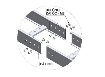 NỐI THANG CÁP   CONECTOR TRUNKING
