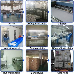 quy trình sản xuất khăn lau phòng sạch