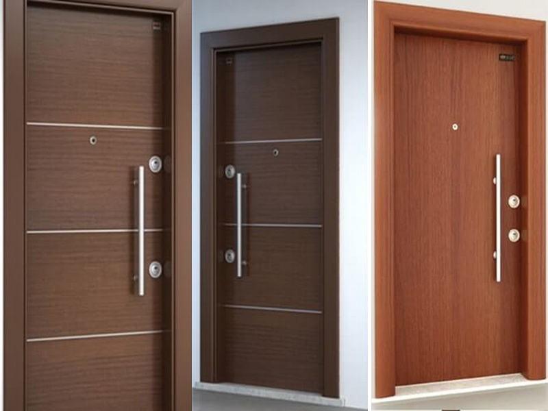 Gía cửa thép vân gỗ